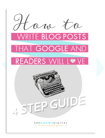 How to write blog posts that Google and readers love- SEO ebook